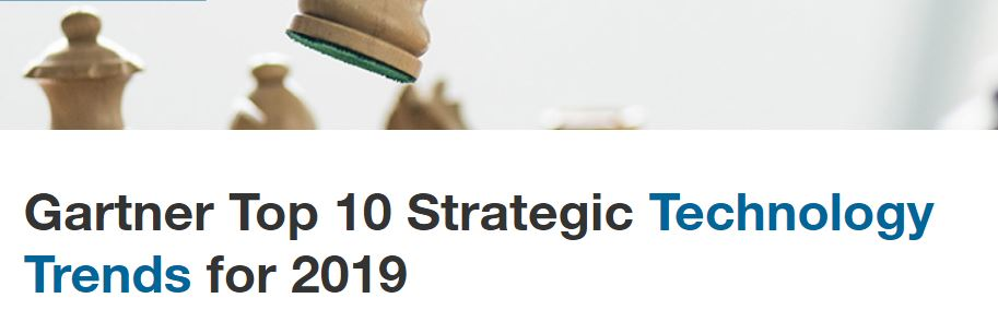 Gartner Top 10 Strategic Technology Trends for 2019 • IT Serbia